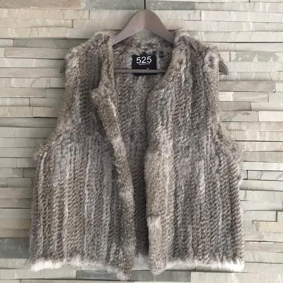 525 America Jackets & Blazers - 525 America rabbit fur vest